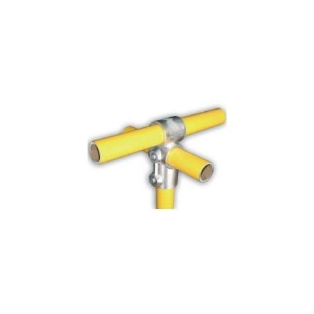 RC3 Ø 34mm | raccord 3 tubes formant une croix et un T