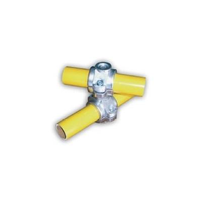 RC1 articulé Ø 35mm    raccord 2 tubes en croix de 0 a 360°