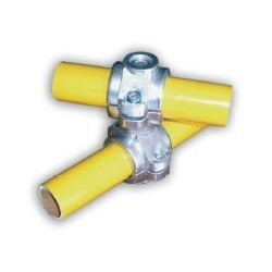 RC1 articulé Ø 42mm |  raccord 2 tubes en croix de 0 a 360°