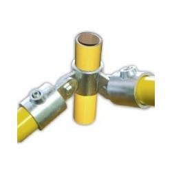 RC 7 VO 2 pattes à 90° +2VF Ø 42mm |  raccord 3 tubes articulés