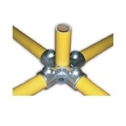 RAC étoile Ø 49mm | raccord 5 tubes assemblés à 90°formant une étoile