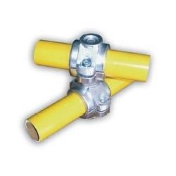 RC1 articulé Ø 50mm |  raccord 2 tubes en croix de 0 a 360°