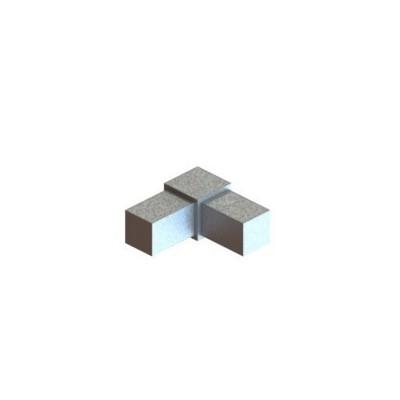 RC2 carré de 20x20mm    raccord 2 à 90° en forme de L