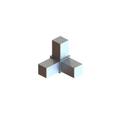 RC3 carré de 20x20mm |  raccord 3 à 90° pou faire un angle