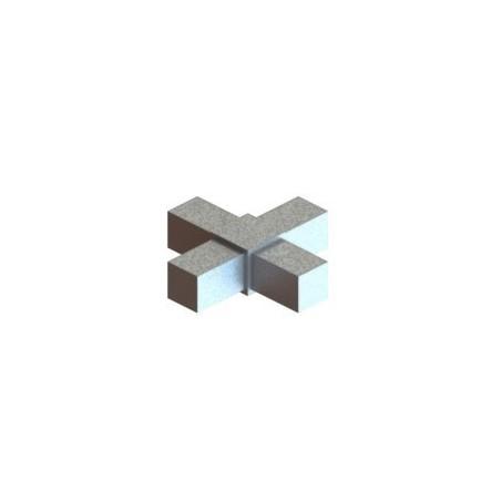 RC4 carré de 20x20mm |  raccord 4 tubes à 90° en forme de croix
