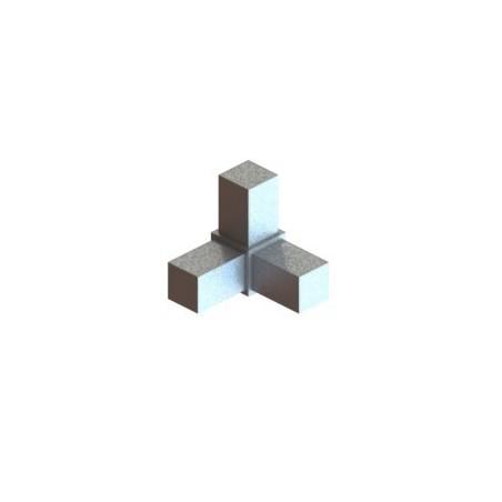 RC3 carré de 25x25mm    raccord 3 à 90° pou faire un angle