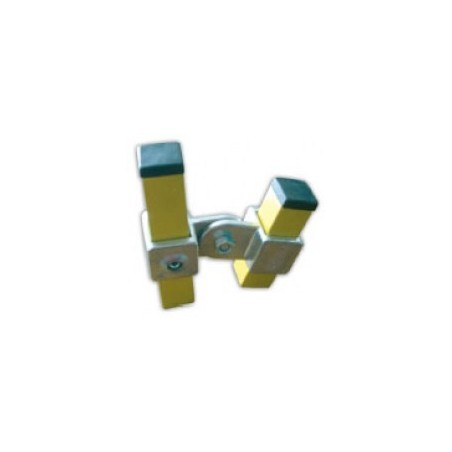 RC 7 2VO carré 25x25mm | raccord 2 tubes articulés