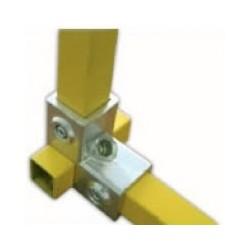 RAC 90° carré 25x25mm | raccord 3 tubes assemblés à 90°