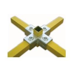 RAC étoile carré 25x25mm | raccord 5 tubes assemblés à 90°formant une étoile