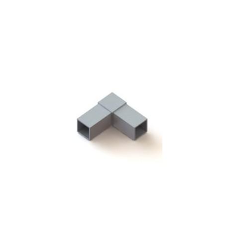 RC2 carré de 40x40mm |  raccord 2 à 90° en forme de L