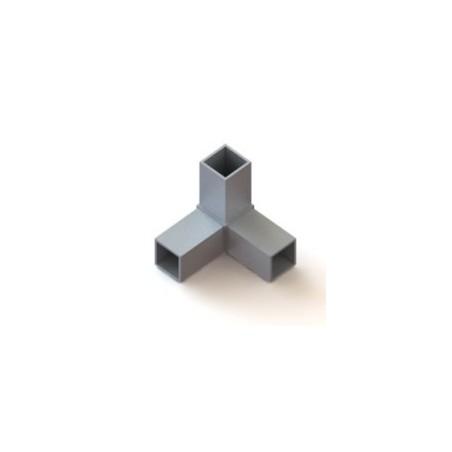RC3 carré de 40x40mm    raccord 3 à 90° pou faire un angle