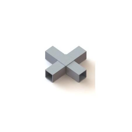 RC4 carré de 40x40mm |  raccord 4 tubes à 90° en forme de croix