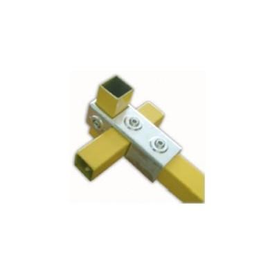 RC3 carré 40x40mm   raccord 3 tubes formant une croix et un T