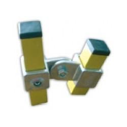 RC 7 2VO carré 40x40mm | raccord 2 tubes articulés