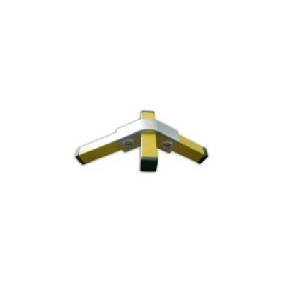 RAC 120° carré 40x40mm | raccord 3 tubes assemblés à 90° et 120°