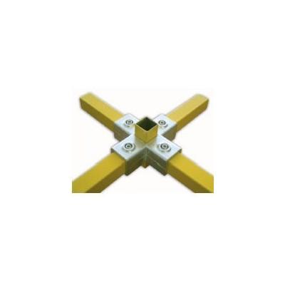 RAC étoile carré 40x40mm | raccord 5 tubes assemblés à 90°formant une étoile