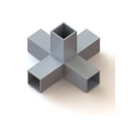 RC5 carré de 60x60mm |  raccord 5 tubes à 90° en forme de croix