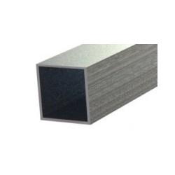 Tube aluminium 6060 3m carré 60x60mm épaisseur 3mm
