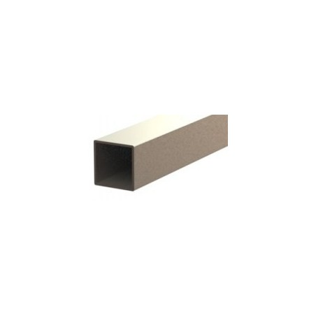 Tube acier inoxydable 304L 3m carré 40x40mm épaisseur 2mm