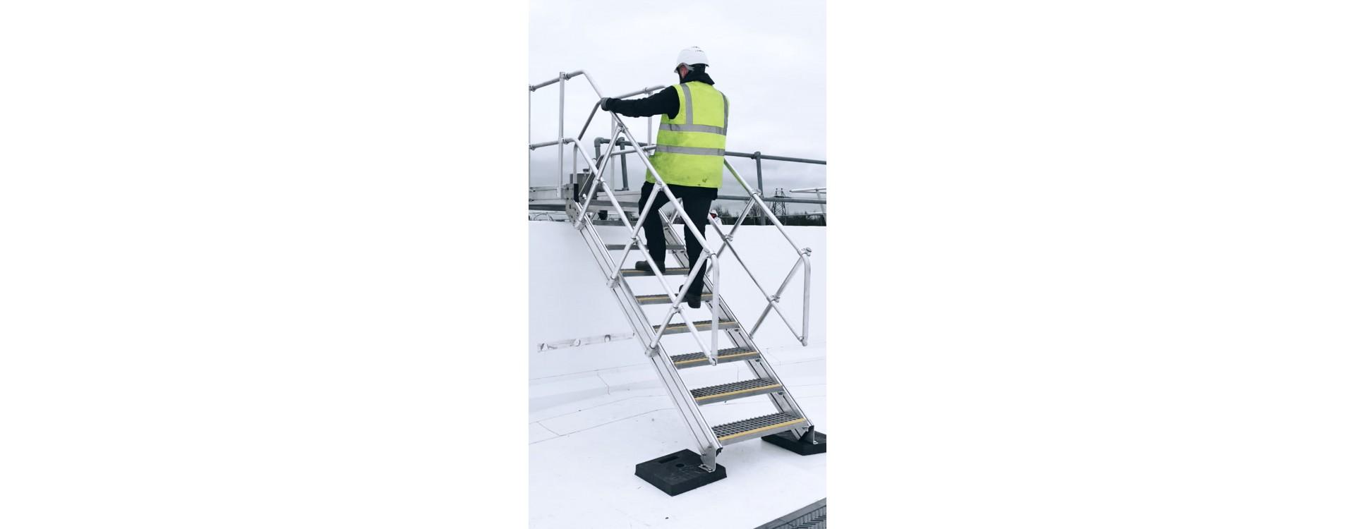 Rampe d'escalier sur-mesure diamètre 35mm tube aluminium 6060