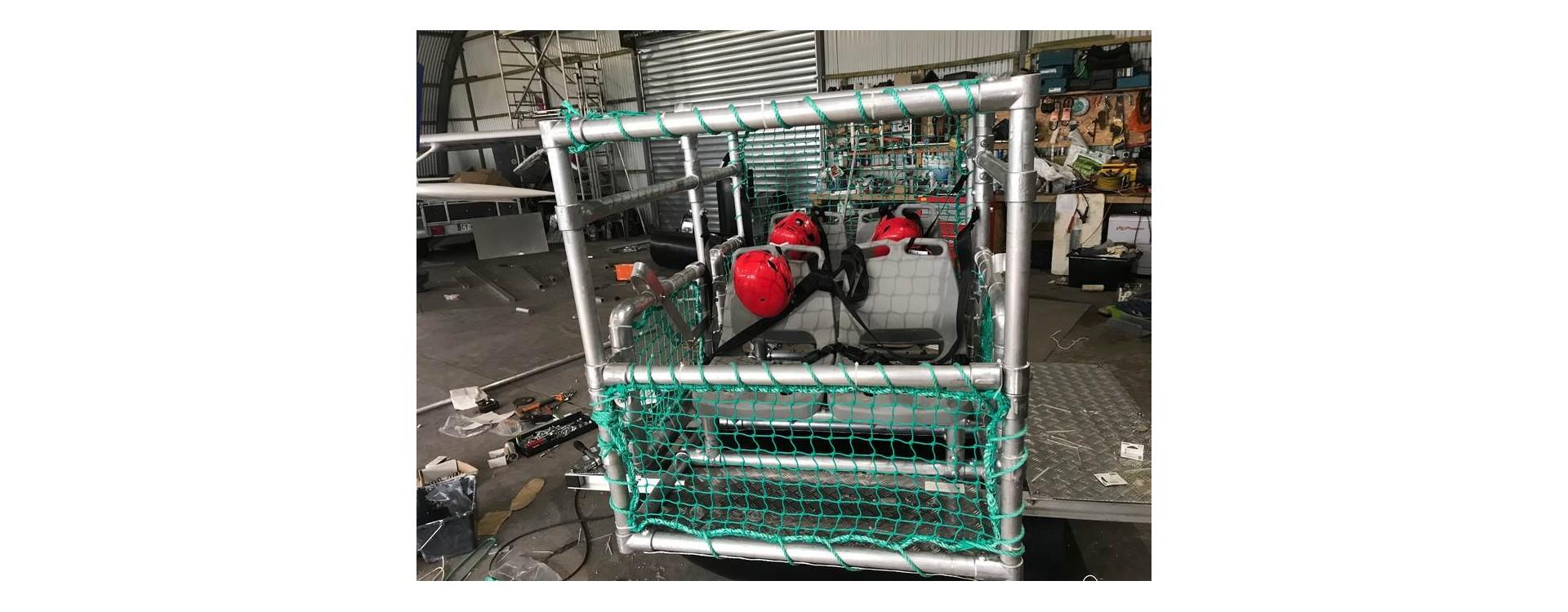 Simulateur de crash d'hydravion